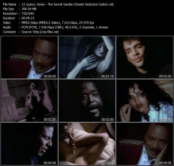 Quincy Jones Feat. El DeBarge, James Ingram, Al B. Sure! And Barry White HQ Videoclip «The Secret Garden (Sweet Seduction Suite)»
