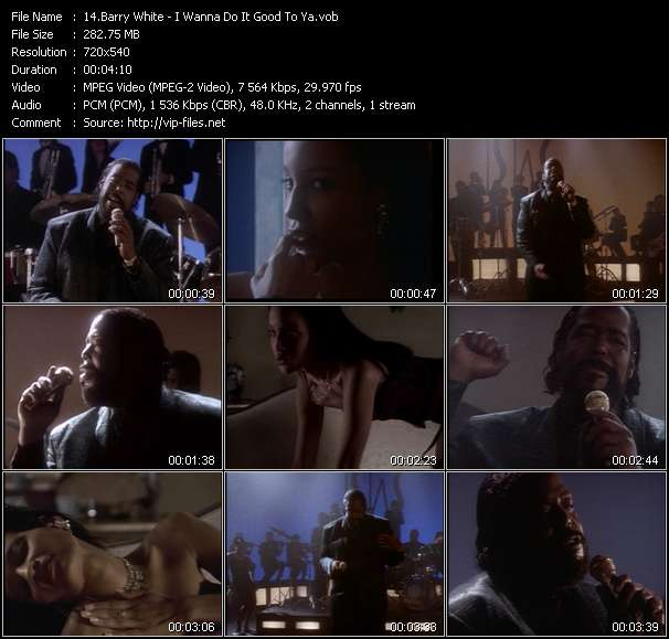 Barry White HQ Videoclip «I Wanna Do It Good To Ya»
