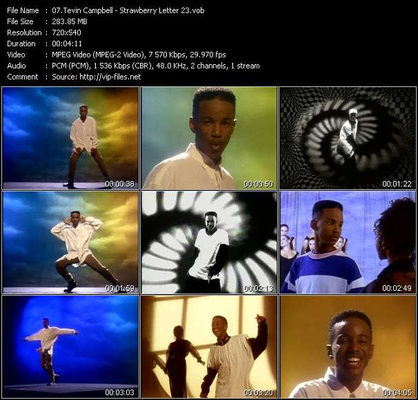 Tevin Campbell HQ Videoclip «Strawberry Letter 23»