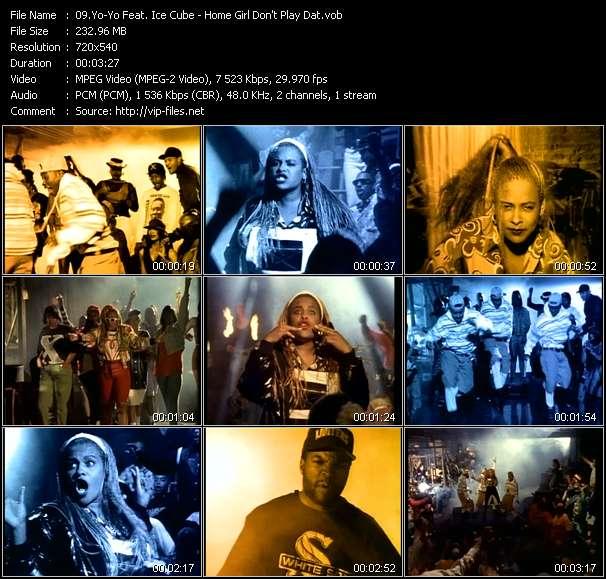 Yo-Yo Feat. Ice Cube HQ Videoclip «Home Girl Don't Play Dat»