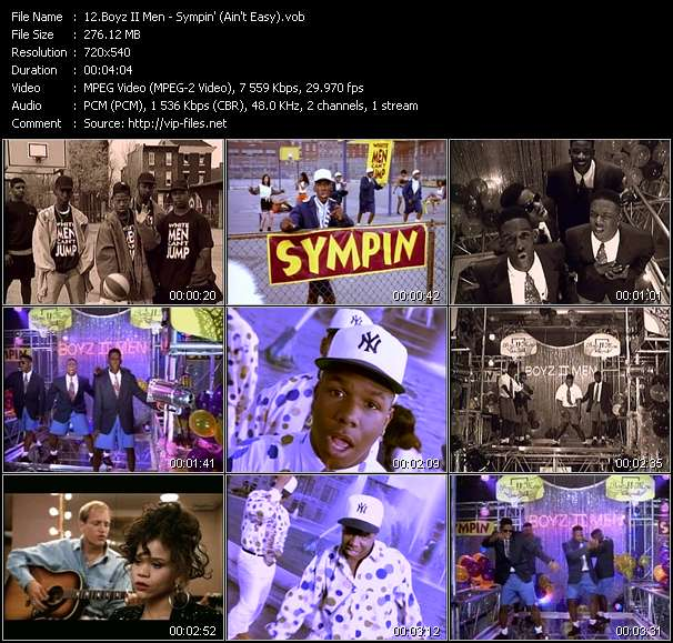 Boyz II Men HQ Videoclip «Sympin' (Ain't Easy)»