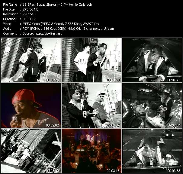 2Pac (Tupac Shakur) HQ Videoclip «If My Homie Calls»