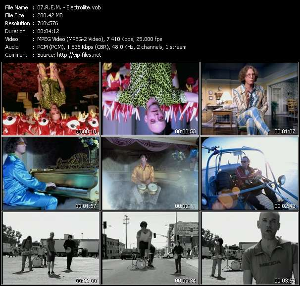 R.E.M. video - Electrolite