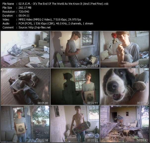 R.E.M. video - It's The End Of The World As We Know It (And I Feel Fine)