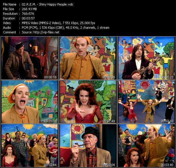 R.E.M. video - Shiny Happy People