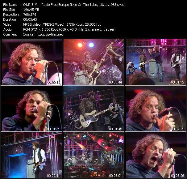 R.E.M. video - Radio Free Europe (Live On The Tube, 18.11.1983)