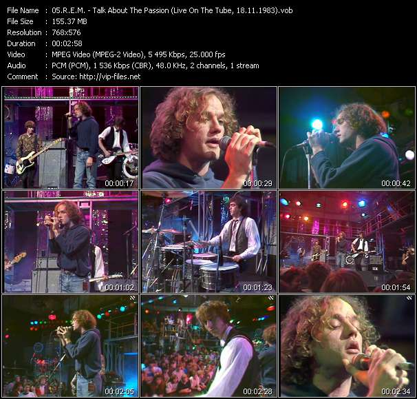 R.E.M. video - Talk About The Passion (Live On The Tube, 18.11.1983)