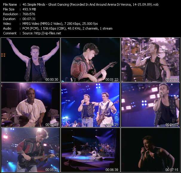 Simple Minds HQ Videoclip «Ghost Dancing (Recorded In And Around Arena Di Verona, Italy, 14-15.09.89)»