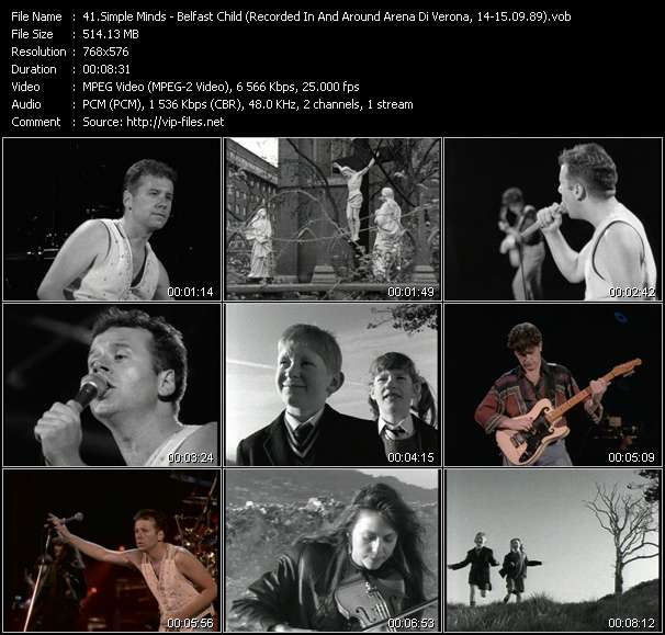 Simple Minds HQ Videoclip «Belfast Child (Recorded In And Around Arena Di Verona, Italy, 14-15.09.89)»