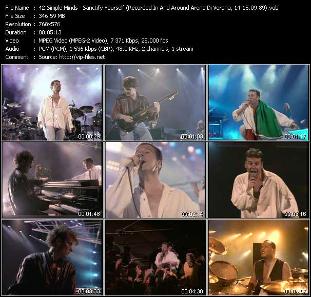 Simple Minds HQ Videoclip «Sanctify Yourself (Recorded In And Around Arena Di Verona, Italy, 14-15.09.89)»