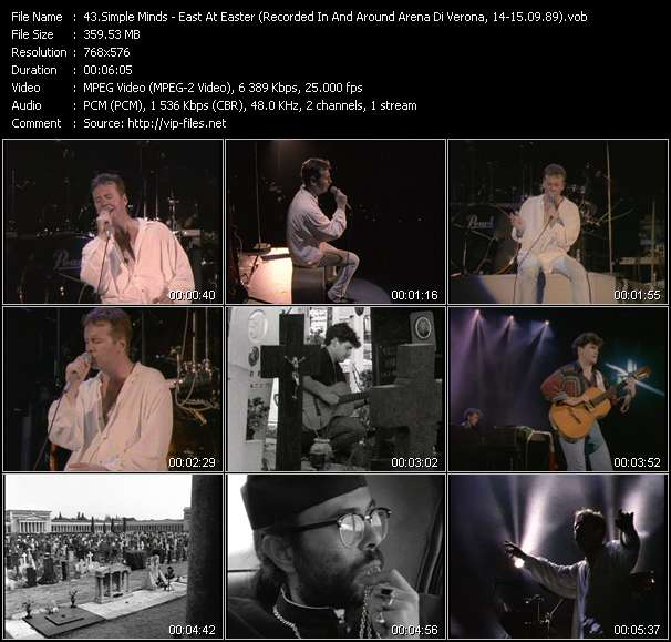 Simple Minds HQ Videoclip «East At Easter (Recorded In And Around Arena Di Verona, Italy, 14-15.09.89)»