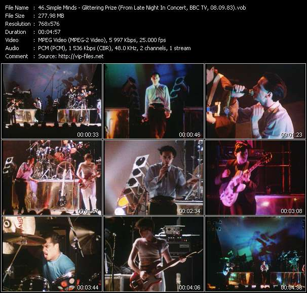 Simple Minds HQ Videoclip «Glittering Prize (From Late Night In Concert, BBC TV, 08.09.83) (Recording From The Concert At City Hall, Newcastle, England, 20.11.82)»