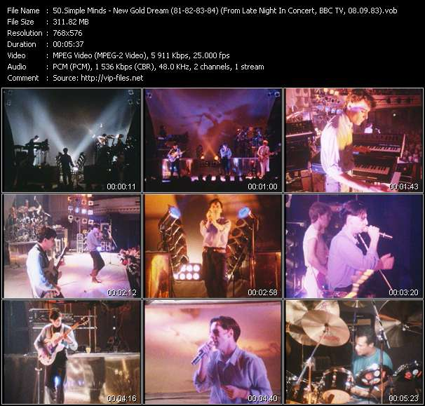 Simple Minds HQ Videoclip «New Gold Dream (81-82-83-84) (From Late Night In Concert, BBC TV, 08.09.83) (Recording From The Concert At City Hall, Newcastle, England, 20.11.82)»