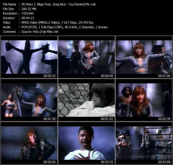 Mary J. Blige Feat. Greg Nice HQ Videoclip «You Remind Me»