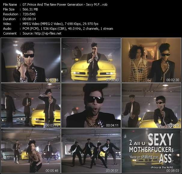 Prince And The New Power Generation video - Sexy M.F.