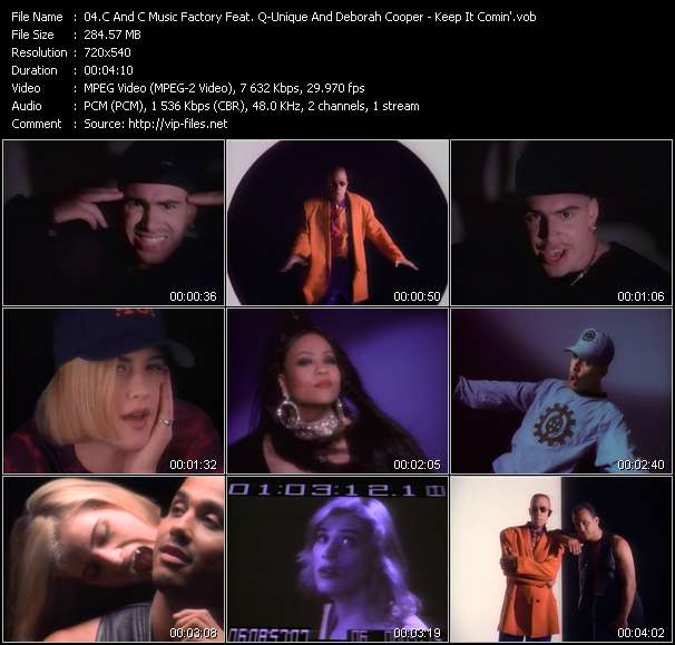 """C And C Music Factory Feat. Q-Unique And Deborah Cooper video - Keep It Comin' (Dance Till You Can't Dance No More!) (From """"Buffy The Vampire Slayer"""")"""