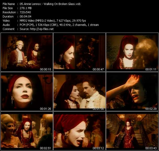 Annie Lennox music video Filejoker