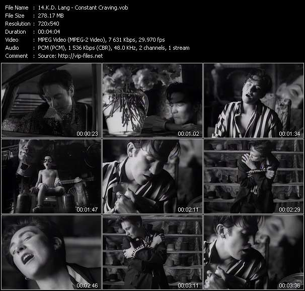 K.D. Lang video - Constant Craving