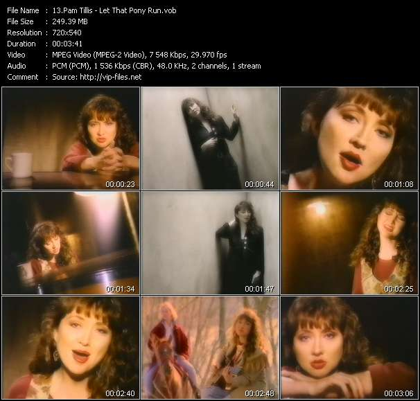 Pam Tillis video - Let That Pony Run