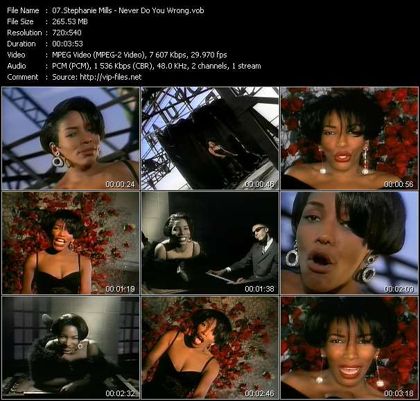 Stephanie Mills HQ Videoclip «Never Do You Wrong»