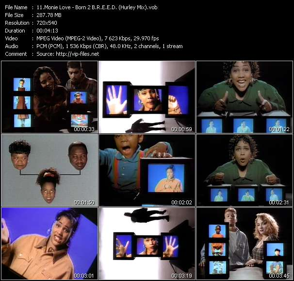 Monie Love HQ Videoclip «Born 2 B.R.E.E.D. (Build Relationships Where Education And Enlightenment Dominate) (Hurley Mix)»