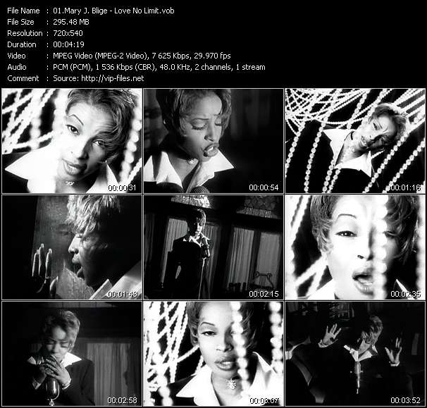 Mary J. Blige video - Love No Limit