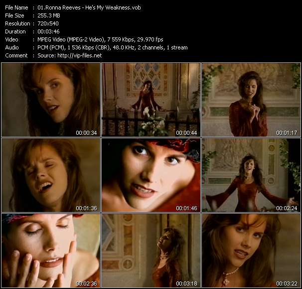 Ronna Reeves HQ Videoclip «He's My Weakness»