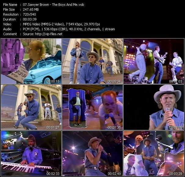 Sawyer Brown HQ Videoclip «The Boys And Me»