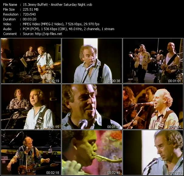 Jimmy Buffett HQ Videoclip «Another Saturday Night»