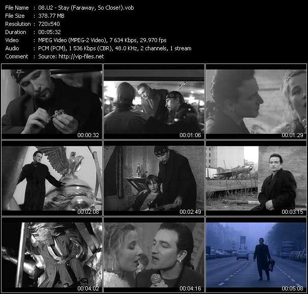 U2 video - Stay (Faraway, So Close!)
