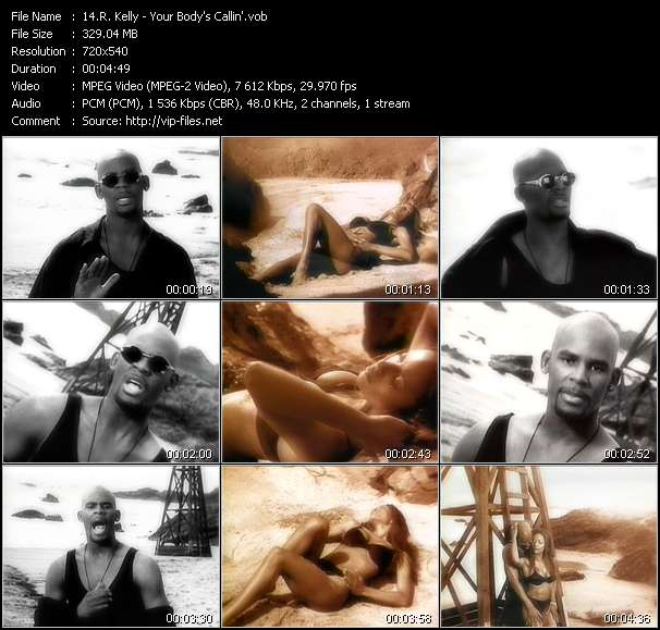 R. Kelly video - Your Body's Callin'