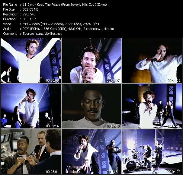 """Inxs HQ Videoclip «Keep The Peace (From """"Beverly Hills Cop III"""")»"""