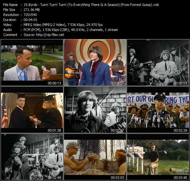 """Byrds HQ Videoclip «Turn! Turn! Turn! (To Everything There Is A Season) (From """"Forrest Gump"""")»"""