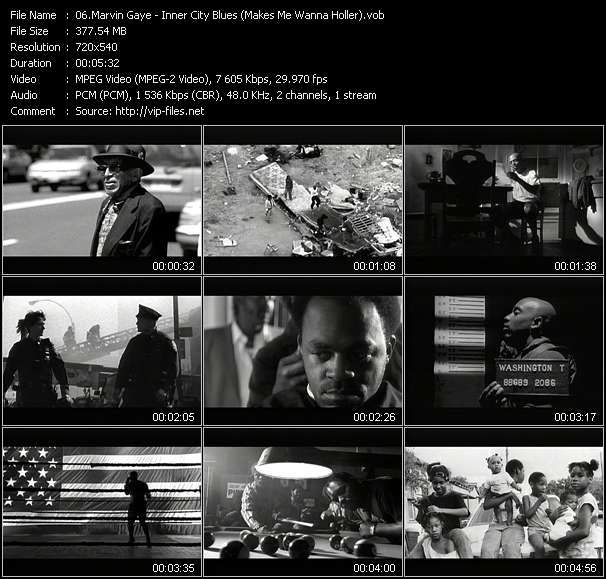 Marvin Gaye HQ Videoclip «Inner City Blues (Makes Me Wanna Holler)»