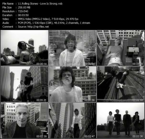 Rolling Stones HQ Videoclip «Love Is Strong»