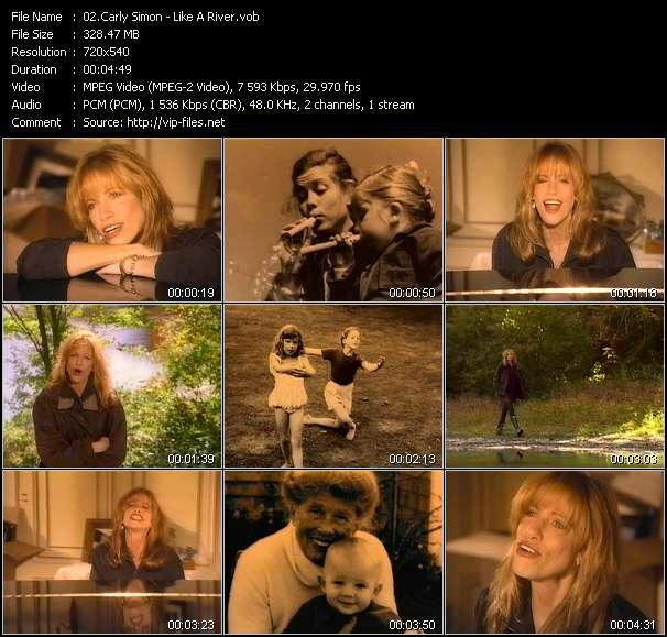 Carly Simon HQ Videoclip «Like A River»