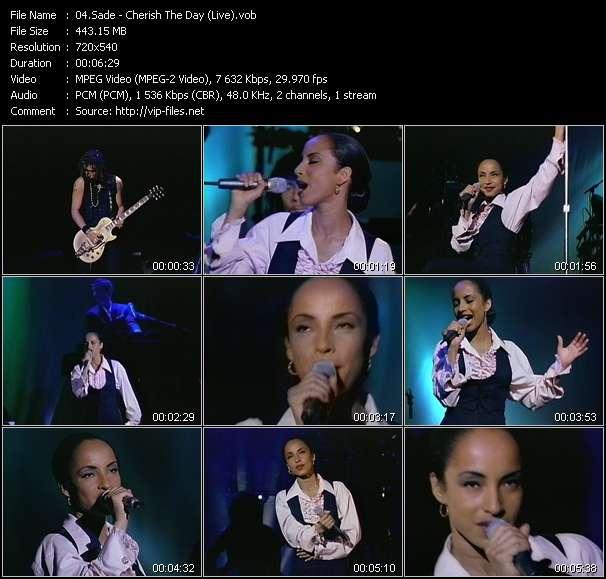 Sade HQ Videoclip «Cherish The Day (Live)»