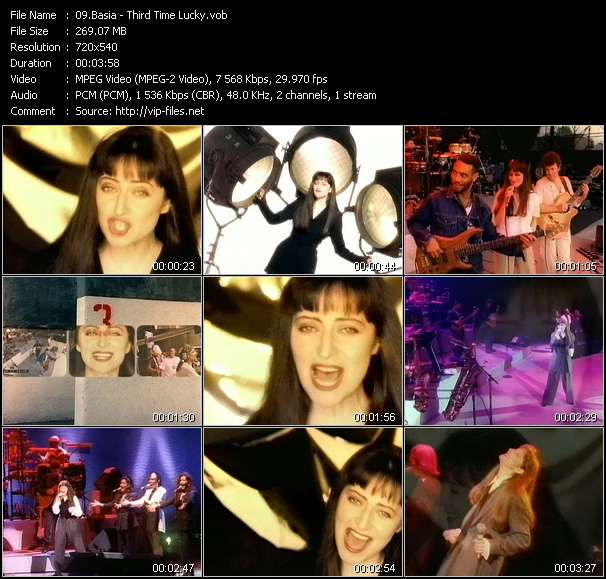 Basia HQ Videoclip «Third Time Lucky»