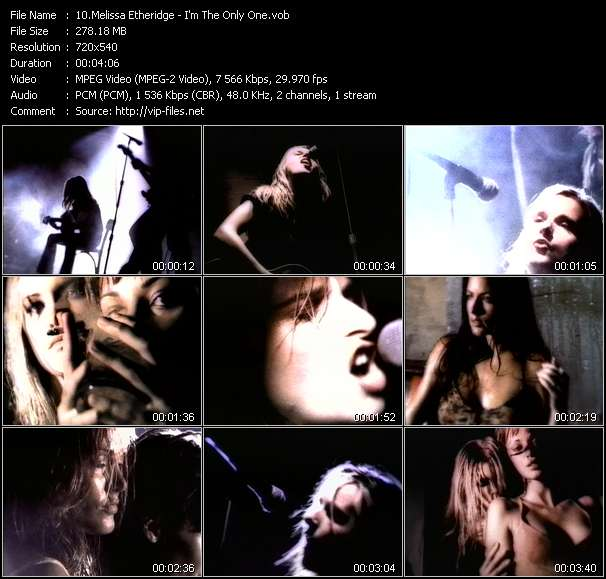 Melissa Etheridge HQ Videoclip «I'm The Only One»