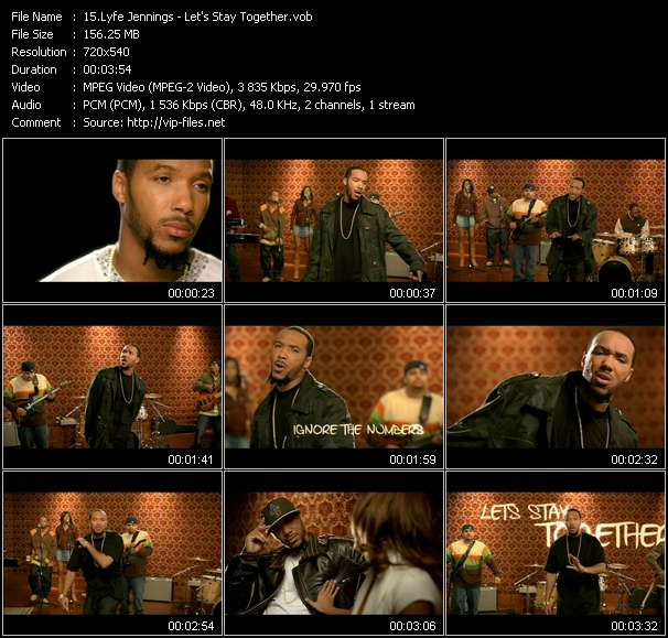 Lyfe Jennings HQ Videoclip «Let's Stay Together»