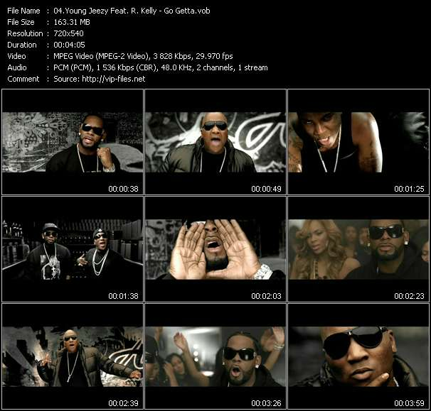 Young Jeezy Feat. R. Kelly HQ Videoclip «Go Getta»