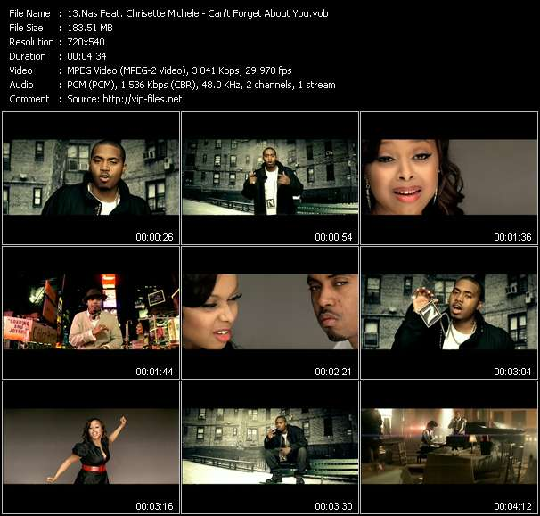 Nas Feat. Chrisette Michele video - Can't Forget About You