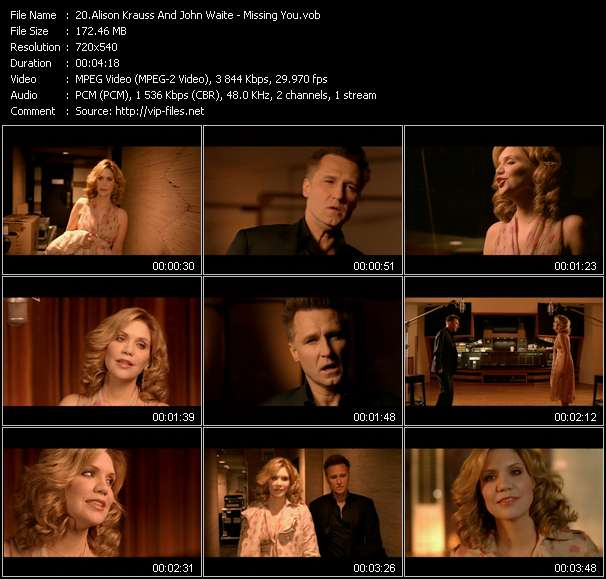 Alison Krauss And John Waite video - Missing You