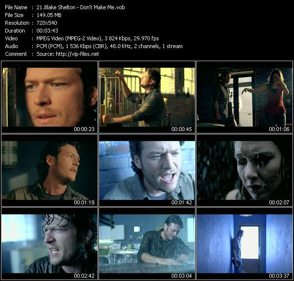 Blake Shelton HQ Videoclip «Don't Make Me»