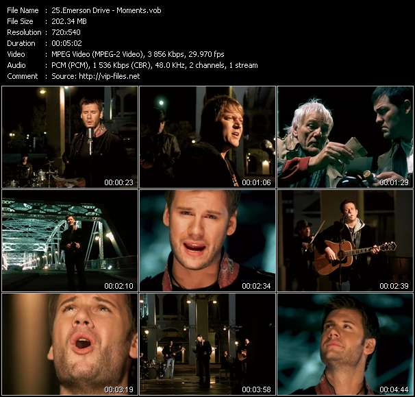 Emerson Drive HQ Videoclip «Moments»