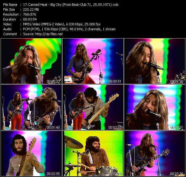 Canned Heat HQ Videoclip «Big City (From Beat-Club 71, 25.09.1971)»