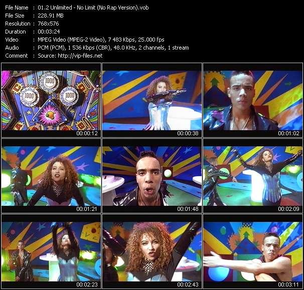 2 Unlimited video - No Limit (No Rap Version)