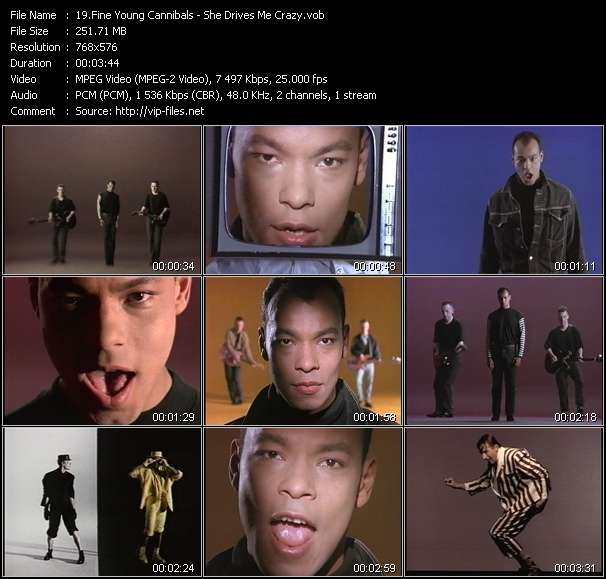 Fine Young Cannibals HQ Videoclip «She Drives Me Crazy»