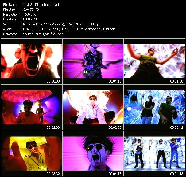 U2 video - Discotheque