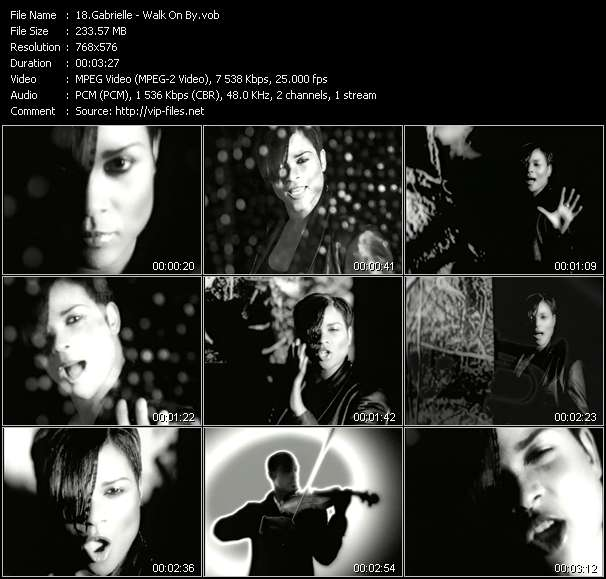 Gabrielle HQ Videoclip «Walk On By»
